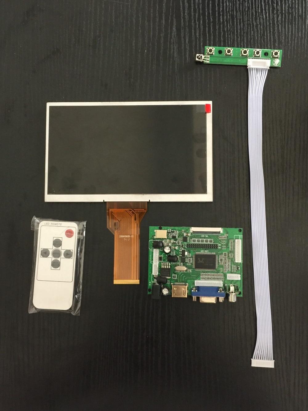 LCD Module 7 inch LCD Screen for Raspberry Pi 3 with driver board Remote Control 800*480 for Raspberry Pi 2 Banana Pi Orange Pi