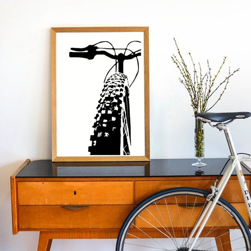 Bicycle Motivational Art Cycling Canvas Painting  2