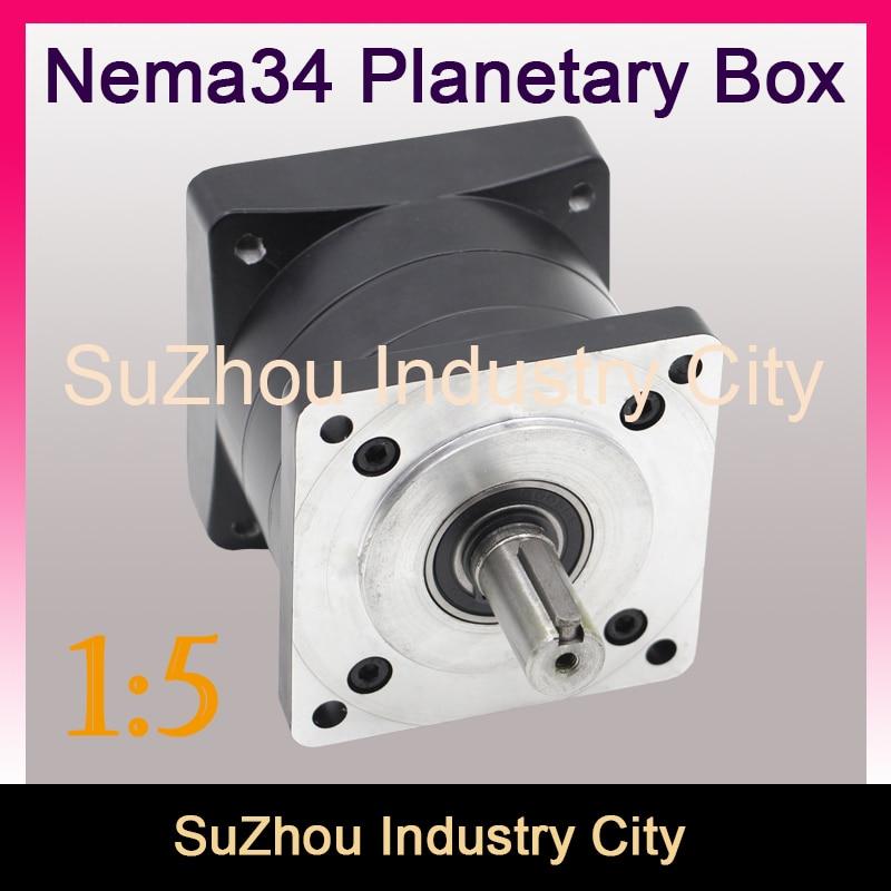 1:5 Nema34 stepper Motor Planetary Reduction Ratio 5:1 planet gearbox 86 motor speed reducer, High Torque high quality !! 1 5