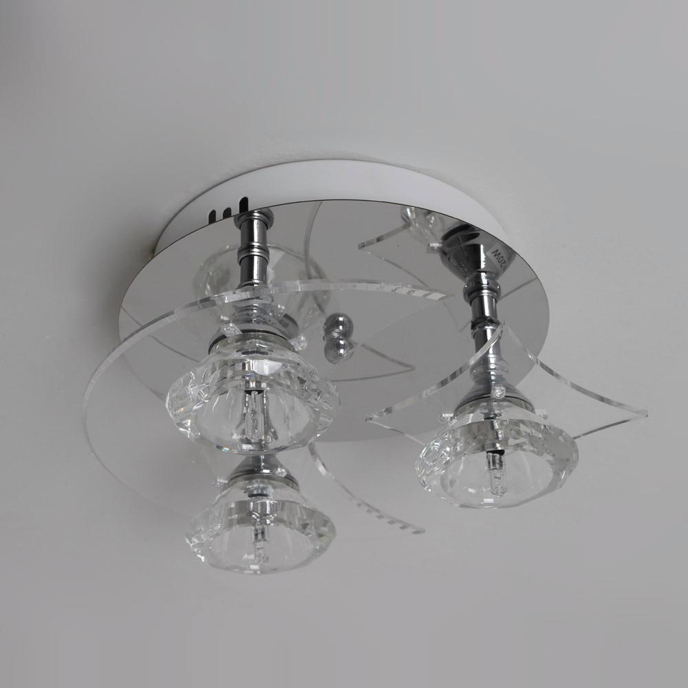 Freies Verschiffen Moderne Deckenleuchte 3 G4 Birnen Inbegriffen Kristall Edelstahl Bündig Montiert Lampe für Wohnzimmer Bettzimmer 9 - 4