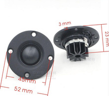 Paar 6 ohm 30W 2 inch ABS Frosted Panel Soft Dome Fiber Membraan Getande Hifi Neodymium Tweeter Speakers hoge pitch luidspreker