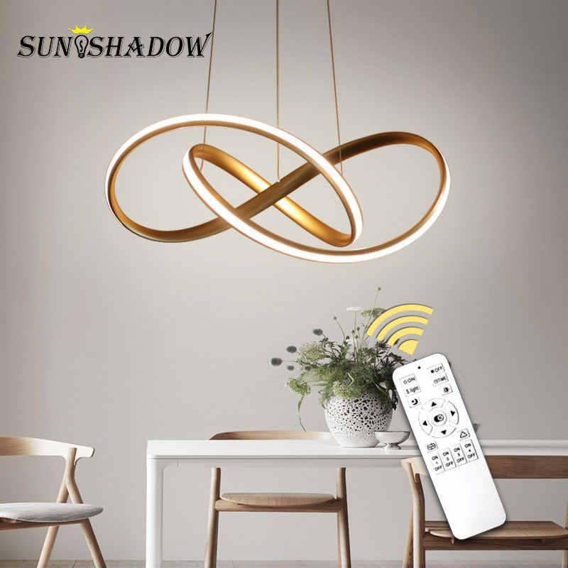 Casa moderna colgante LED luz para comedor sala de lámparas colgantes colgante LED lámparas de techo lámpara de oro y blanco y Negro