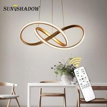 Домашний современный светодиодный подвесной светильник для гостиной, столовой, висячие лампы для дома, светодиодный подвесной светильник, потолочный светильник, светильники, золотой и белый и черный