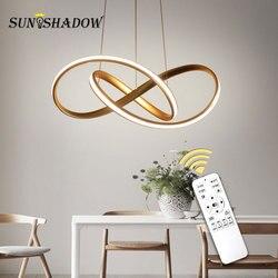 Thuis Moderne LED Hanglamp Voor woonkamer Eetkamer Opknoping Lampen LED Hanger Lampen Plafondlamp Wedstrijden Gold & wit & Zwart