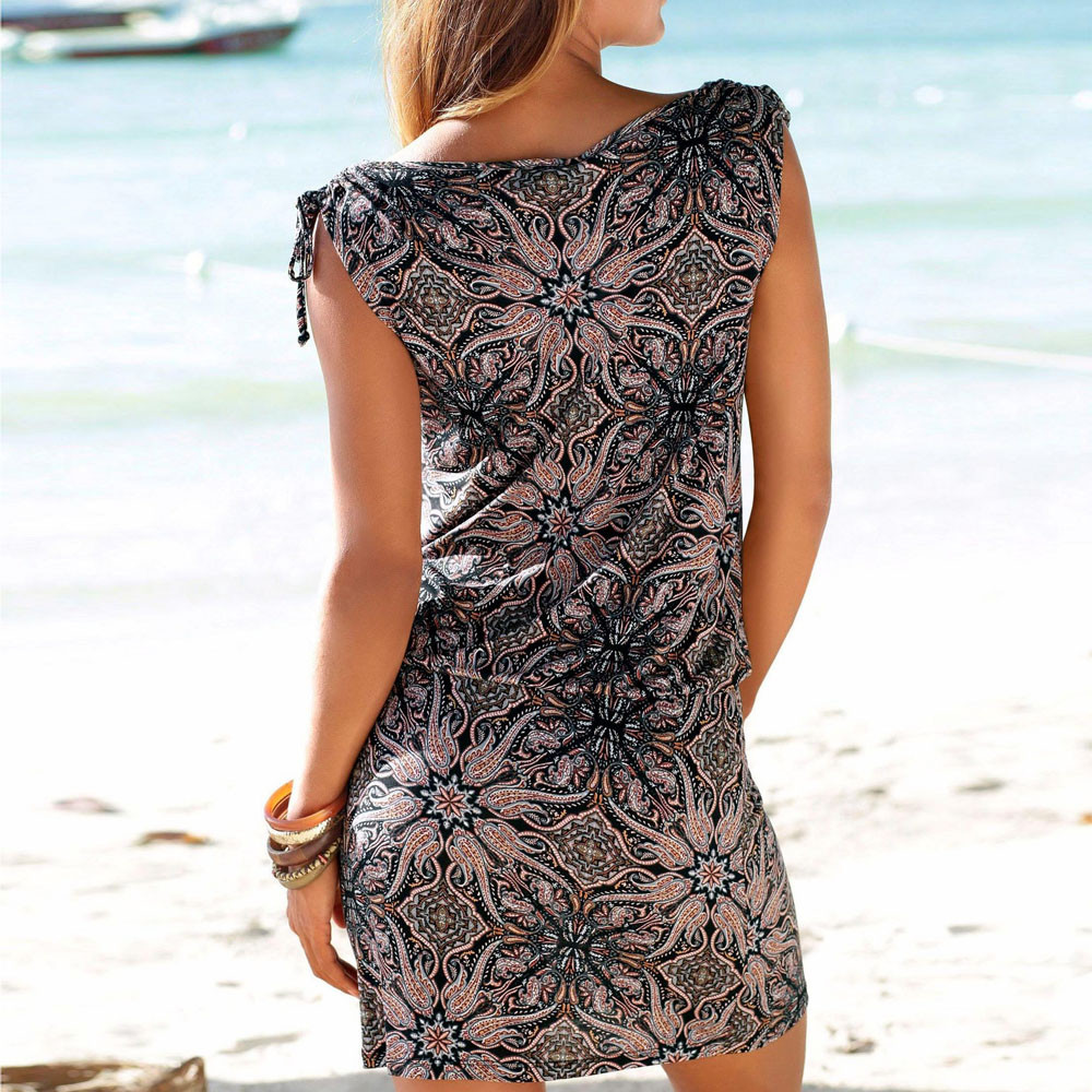 MISSOMO women dress summer 2019 Casual Sleeveless Retro Print Beach Mini Dress Beach Dress vestidos de MISSOMO women dress summer 2019 Casual Sleeveless Retro Print Beach Mini Dress Beach Dress vestidos de verano