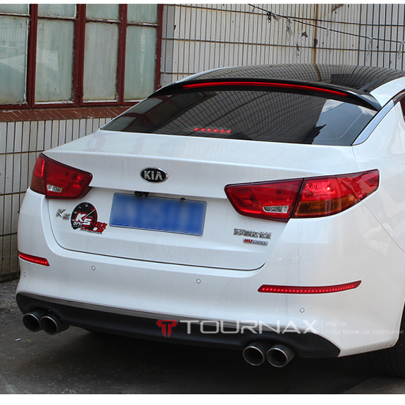 For Kia K5 Optima Car Decoration 2011 2012 2013 2014 2015 ABS Plastic Paint Painting Color Rear Trunk LED Light Roof Spoiler стоимость