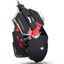 P 4800 DPI Wired Mouse Optical USB Profession Gaming Mause Mice Programmable With 10 Buttons RGB LED
