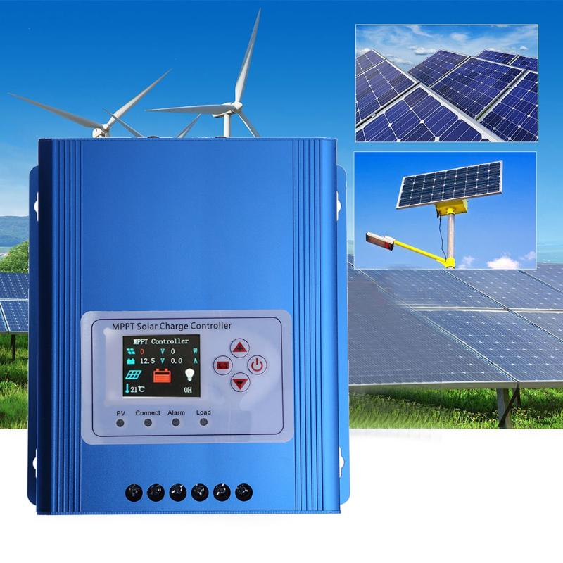 LCD Display Solar Charge Controller MPPT 30A 12/24/48V Solar Panel Controller Regulator Charge Battery Protection Multiple Load 20a 12 24v solar regulator with remote meter for duo battery charging