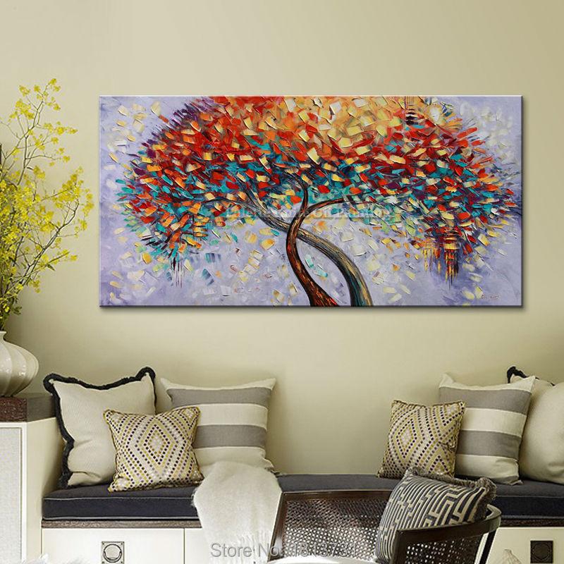 Lukisan Minyak Buatan Tangan Pisau Palet Bunga Lukisan Minyak Di Atas - Dekorasi rumah - Foto 4