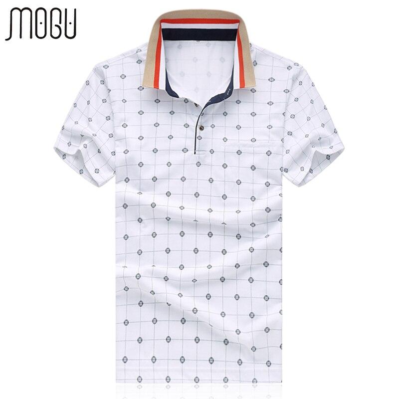 MOGU Casual Polo Shirt Men With Short Sleeve 2017 Summer New Arrival Fashion Plaid Men Brand Polo Asian Size Men's Polo Shirt