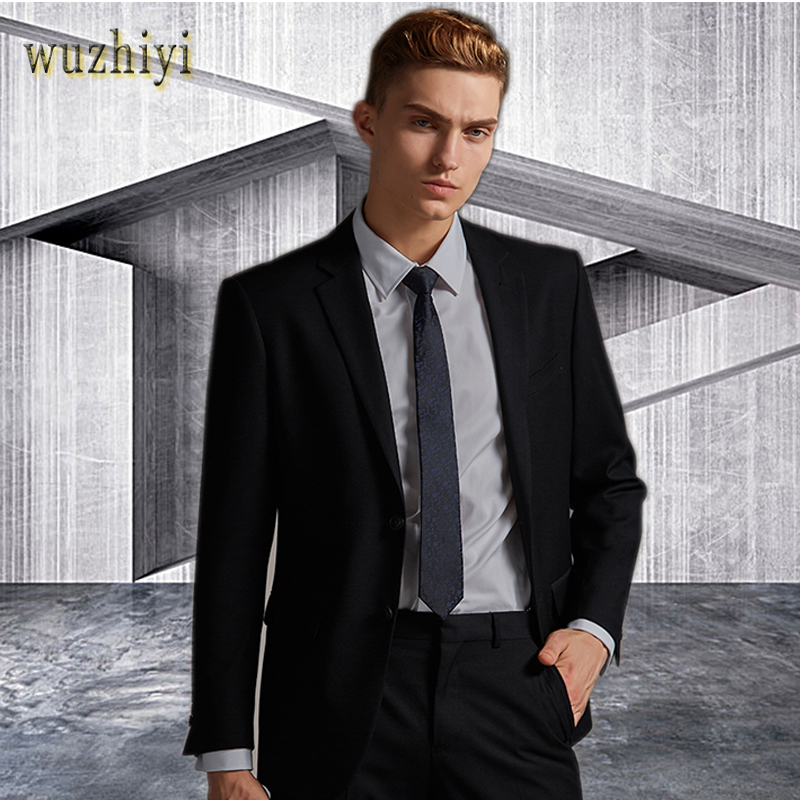 wuzhiyi <font><b>2018</b></font> blazer masculino Formal <font><b>men</b></font> <font><b>suits</b></font> Custom Made Big Size <font><b>terno</b></font> masculino 4 color <font><b>Suit</b></font> <font><b>men</b></font> <font><b>wedding</b></font> <font><b>suits</b></font> 2 pieces image