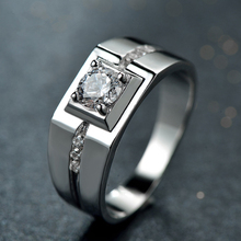 Pure Silver 925 Rings for Man Wedding Engagement Ring with Stone Male Jewelry Accessories Bague Homme Anel Anillo Bijoux Gifts