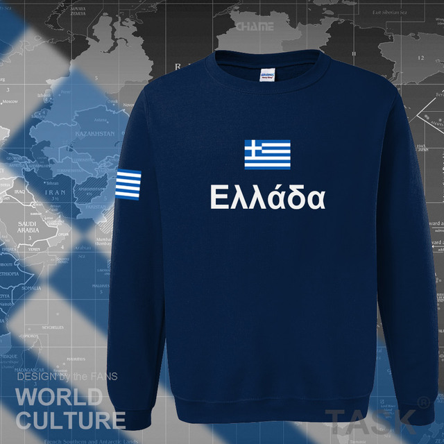Greece hoodies men sweatshirt sweat new hip hop streetwear socceres jerseyes footballer tracksuit nation Greek flag Hellas GR 2