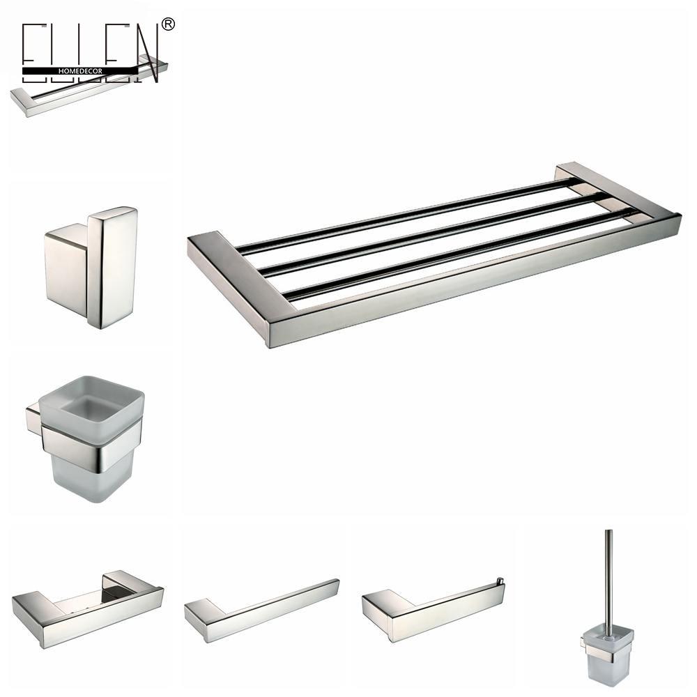 bathroom hardware set stainless steel polish finish toilet paper holder toilet brush holder. Black Bedroom Furniture Sets. Home Design Ideas