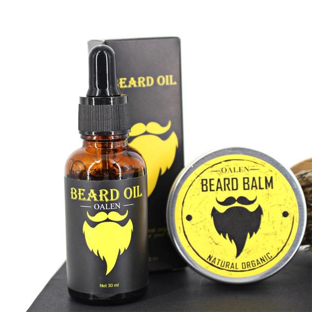BellyLady Men Beard Oil Kit With Beard Oil , Brush,Comb,Beard Cream Scissors Grooming & Trimming Kit Male Beard Care Set  1