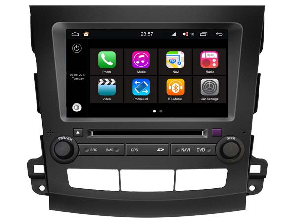S190 Android 7 1 CAR DVD player FOR MITSUBISHI OUTLANDER 2007 2012 car audio stereo Multimedia