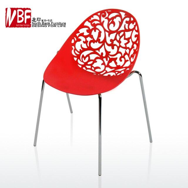 Zwarte Lounge Stoel.Us 567 6 Noordkust Meubels Minimalistische Moderne Salon Plastic Holle Gesneden Eetkamerstoelen Koffie Lounge Stoel In Zwarte En Witte Stoel In