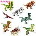 [Bainily]8pcs/lot Dinosaurs of Jurassic Park World Movie Baby Kid Toy Building Blocks Sets Model Toys Bricks like legoe friends