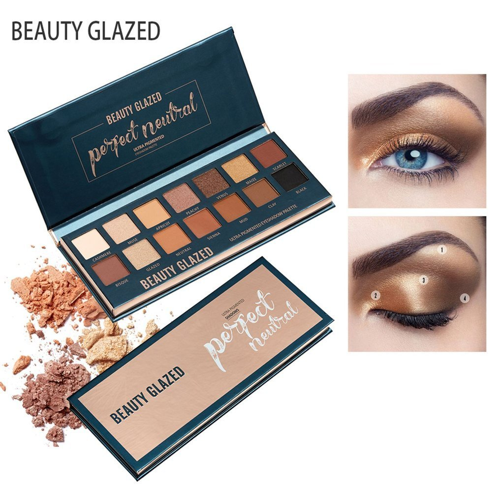 Humorous Beauty Glazed Eyeshadow Palette Long Lasting Shimmer Matte Eyeshadow Makeup Multi Colors Palette Cosmetics Kit Make Up For Eyes Skillful Manufacture Eye Shadow