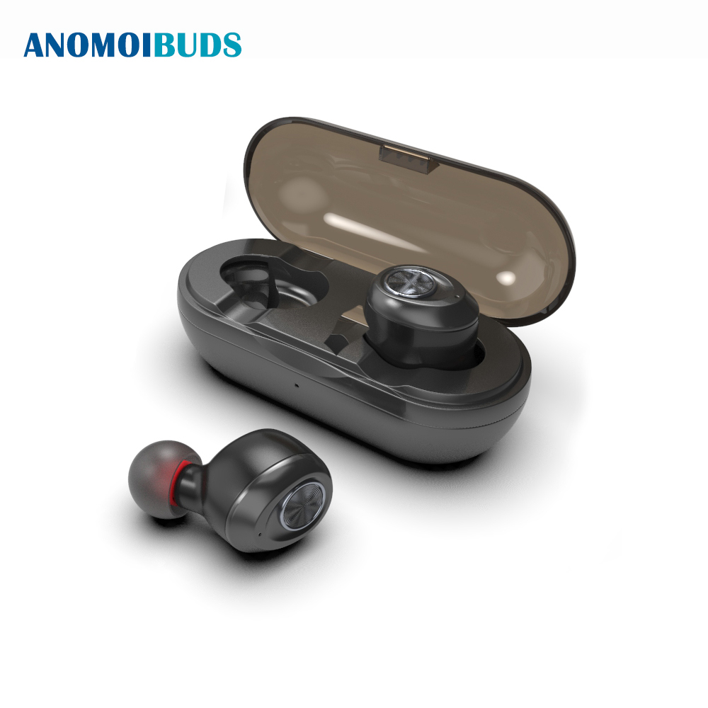 Anomoibuds Capsule Wireless Earphone TWS Earbuds True Stereo Sweatproof Sports Mini Bluetooth Earphone With 500mah Charging Case