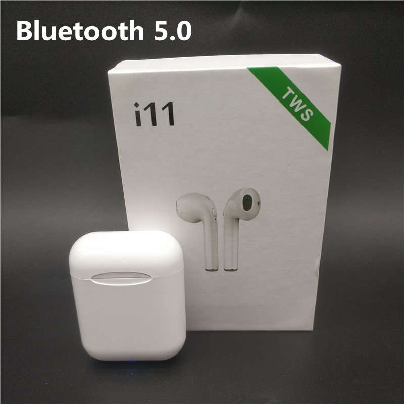 Universal Wireless <font><b>Bluetooth</b></font> <font><b>5.0</b></font> <font><b>i11</b></font> <font><b>TWS</b></font> Earphones Mini Earbuds Stereo With Charging Box For Iphone Samsung S6 Xiaomi Andriod image