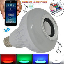 New Wireless Power Light 12W E27 LED RGB Bluetooth Speaker Bulb Lamp Music Playing & Lighting with Remote Control GDeals