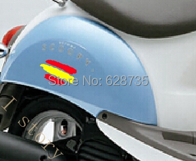 2x Spanish flag sticker , Creative spain vinyl decal stickers for cars motorcycles, bicycles, refrigerators decor