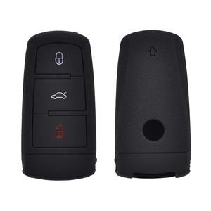 Image 4 - 3 botão de Carro Remoto Chave Fob Shell Case Capa de Silicone Para VOLKSWAGEN VW Passat CC B6 3C B7 Titular Da Pele protetor
