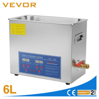 VEVOR Commercial Ultrasonic Cleaner 6L Heated Ultrasonic Cleaner with Digital Timer Jewelry Watch Glasses Cleaner Large Capacity