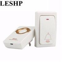 Self Powered Waterproof Wireless DoorBell Night Light Sensor No Battery EU Plug Smart Door Bell 1