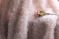 1 yard high quality nude pink chiffon 3D Rosette lace fabric for wedding backdrop new born baby photography blanket accessories