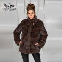 Tatyana Furclub Real Value Luxury Mink Fur Coat Real Mink Coat Natural Mink Fur Coat Female
