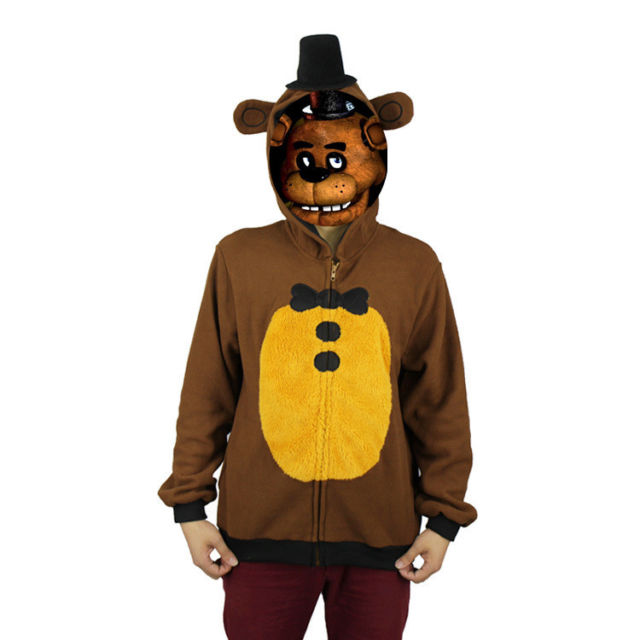 Game Five Nights at Freddy's Cosplay Costume Hoodie Coat  FNAF Halloween