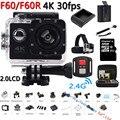 Original F60/F60R Action Camera 4 K WiFi 2.0 LCD 170D Lente Sport Helmet Cam Mergulho Submarino ir à prova d' água pro câmera