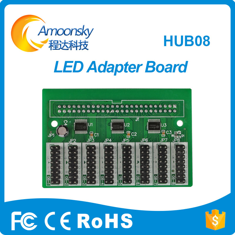 Hub08A Led Pinboard Adapter Board For  LED Receiver LED Controrl System Module Card
