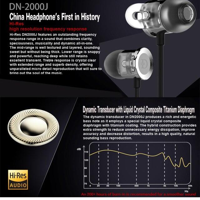 DUNU DN 2000J Hi-Res AUDIO Dual Balanced Armature Single Dynamic Hybrid HiFi in-Ear Earphone DN2000J DN-2000J DUNU-TOPSOUND 4