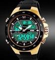 2016 Nuevos Hombres Se Divierte Los Relojes A Prueba de agua Moda Casual Reloj de Cuarzo Analógico y Digital Militar Multifuncionales Mens Relojes Deportivos