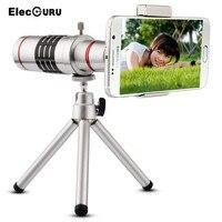 Elecguru 18X Universele Telelens Mobiele Telefoon Optische Zoom Telescoop Camera met Statief Voor iPhone Sumgung HTC Huawei