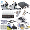 OPHIR Beginner Complete Tattoo Kit 2x Tattoo Machine Guns Power Supply with Needles 12 Color Tattoo Inks Body Tattoo Art_TA079
