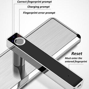 Image 4 - Fechadura eletrônica de impressão digital, fechadura de porta inteligente em aço inoxidável, impressão digital, semicondutor, fechadura eletrônica para porta