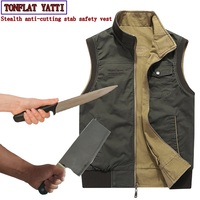 Self defense anti cutting stab resistant safety function covert stab vest Can be positive negative two wear Police protective
