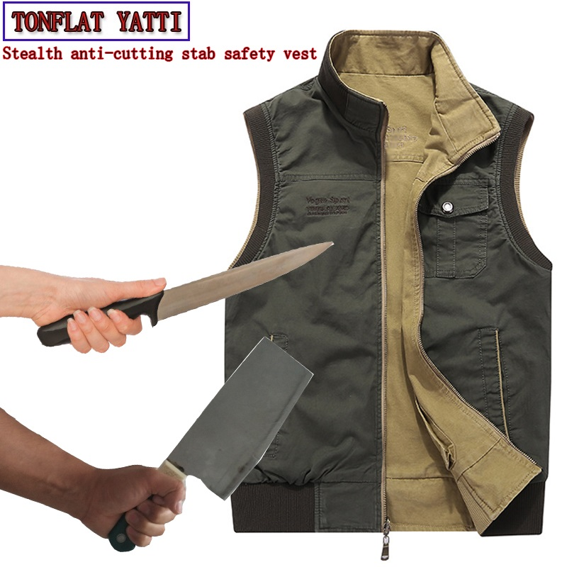 Self defense anti-cutting stab-resistant safety function covert stab vest Can be positive negative two wear Police protectiveSelf defense anti-cutting stab-resistant safety function covert stab vest Can be positive negative two wear Police protective