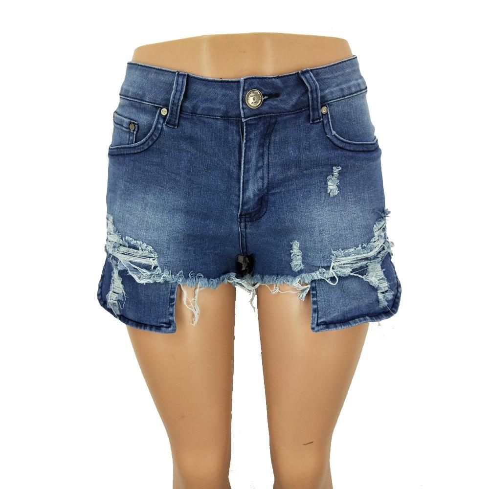 Women's Jeans Tassel Stretch Denim Shorts Sexy High-Waist Fashion Summer New Hot Casual