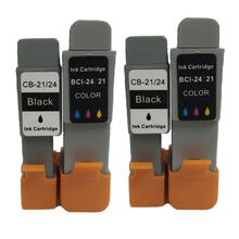 Vilaxh 4pcs bci-21 bci-24 compatible ink cartridge for canon bci21 bci24 for Canon PIXMA iP1000 iP1500 iP2000 MP110 MP130 картридж cactus cs bci24bk для canon s200 s200x s300 s330 s330 photo i250 i320 i350 i450 i455 i470d i475d mp110 mp130 mp360 mp370 mp3