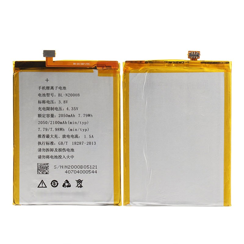 New 100 for Gionee GN9005 ELIFE S5 1 BL N2000B 2050mah Li Polymer Battery and 2016