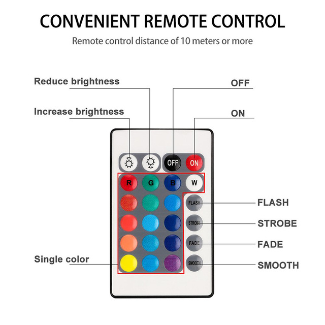 10 Led Remote Controlled RGB Submersible Light Battery Operated Underwater Night Lamp Outdoor Vase Bowl Garden Party Decoration 2