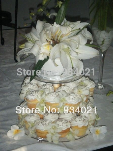 3 Tier Acrylic Round Cupcake Stand Or Acrylic Cupcake Display ...