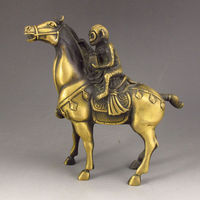 Chinese Bronze Statue Monkey riding a horse