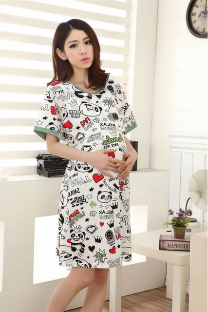 better price 100% top quality genuine US $22.8 |Printed Panda casual homecoming dresses maternity gown loose  breastfeeding dresses lactation clothes for pregnant women summer-in  Dresses ...