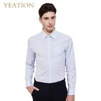 YEATION удобные бизнес рубашка с длинным рукавом для мужчин Тонкий Дизайн Формальные повседневное Мужской Мужская классическая рубашка